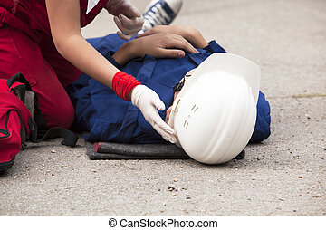 First aid training - Work accident