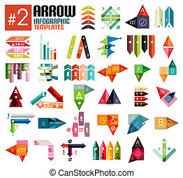 Huge set of arrow infographic templates 2 for business...
