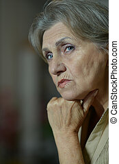 Aged woman - Face of a cute aged woman