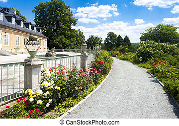 Kozel Palace with garden, Czech Republic