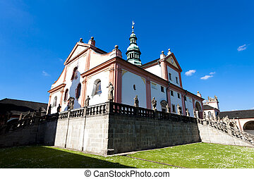 pilgrimage church in Svata Hora near Pribram, Czech Republic