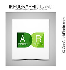 Semicircle infographic business card