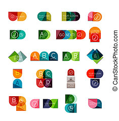 Collection of semicircle infographic templates - Collection...