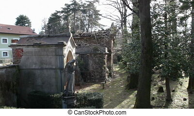 abandoned cemetery in Viggiu, Italy