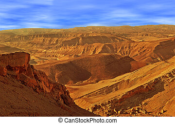 Hills and mountains in Arava desert. - Mountains in Arava...