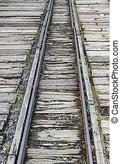 Narrow gauge railway line - Deserted narrow gauge train...