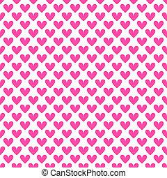 Heart shape vector seamless pattern (tiling).