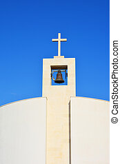 modern church tower - Small modern church tower with bell in...