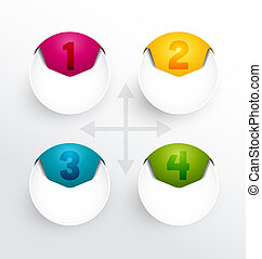 numbered banners - Colorful round numbered banners, design...