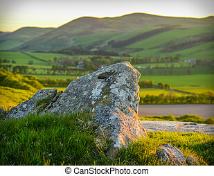 Scottish Landscape At Sunset - A Rolling Scottish Landscape...