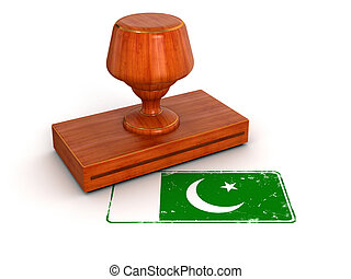 Rubber Stamp Pakistan flag - Rubber Stamp Pakistan flag....