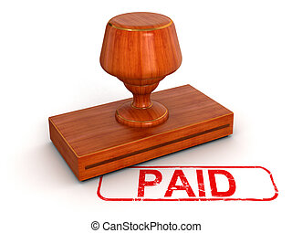 Rubber Stamp Paid - Rubber Stamp Paid. Image with clipping...