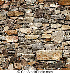 Seamless texture of medieval wall of stone blocks - Seamless...