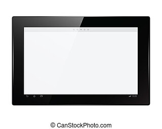 Vector digital tablet - Abstract digital tablet vector...