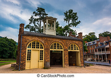 John Brown's Fort in the historic village of Harper's Ferry,...