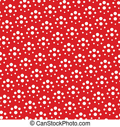 vector red and white polka dot pattern background