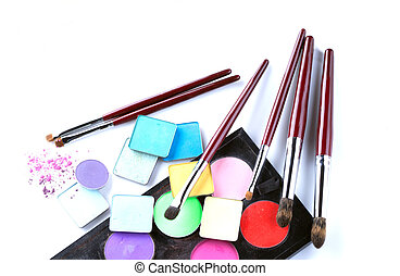 Set of cosmetic products for professional makeup