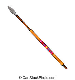 Native American Spear - 3D digital render of an Indian spear...