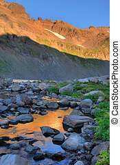 Sunrise, Goat Rocks Wilderness, Washington state - Sunrise...
