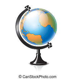 Globe isolated on white vector