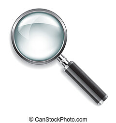 Magnifying glass vector illustration - Magnifying glass...