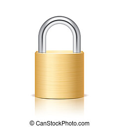 Metal padlock isolated on white vector