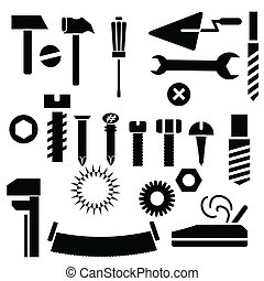hand tools -  illustration with hand tools for your design