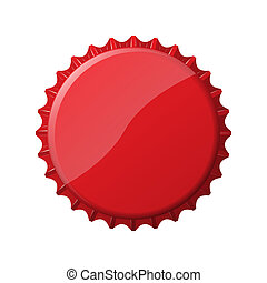 Red bottle cap - An image of a nice bottle cap