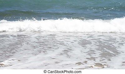 Ocean Waves and Beach
