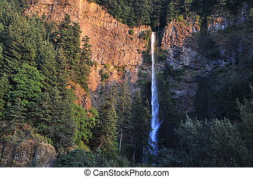 Multnomah Falls in the Columbia Gorge of Oregon