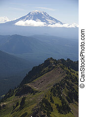 Mount Adams, Washington State - Mount Adams surrounded by...