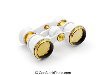opera binoculars - opera glasses binoculars on white