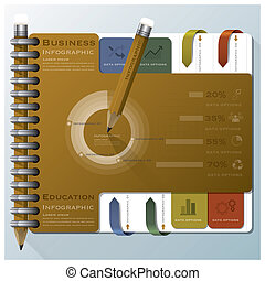 Organize Notebook Business Infographic Design Template