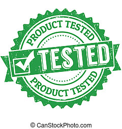 Product tested stamp - Product tested grunge rubber stamp on...