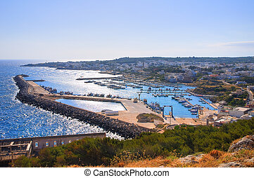 Panoramic view of Santa Maria di Leuca. Puglia. Italy.