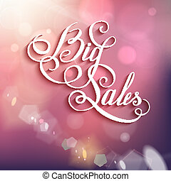 Beatiful Life - calligraphic words and bokeh Vector...