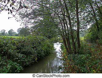 River Medway at Forest Row in East Sussex, just a few miles...