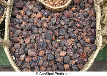 Argan nuts for sale in Morocco