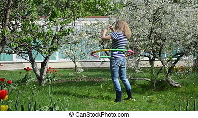 woman sport garden