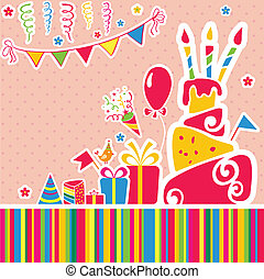 Vector happy birthday background Greeting card - Happy...