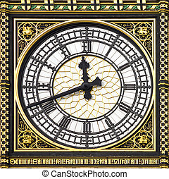 Close-up of Big Ben, London - Close-up of Big Ben, Clock...