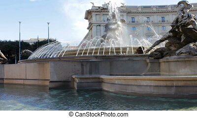 Piazza della Repubblica Fountain1 - Filmed on a sunny autumn...