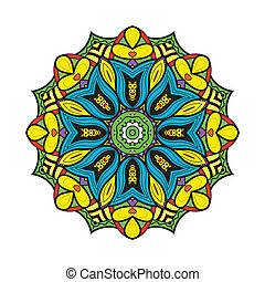 Bellflower mandala. Vector format. Isolated