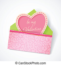 Love mail with Valentine card