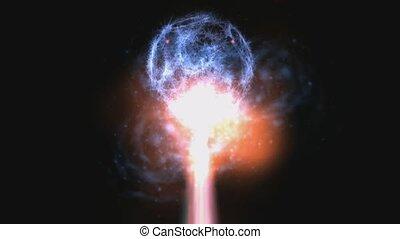 Laser Flashes Animation - Animation of hot Laser Flashes