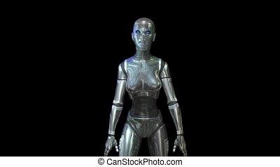 Cyborg Animation - Amination of a female Cyborg