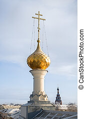 Dome of the church, Russia.