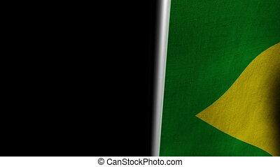 Brazil Flag transition RtoL