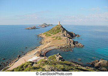 The Sanguinaires Islands, in Corsica France