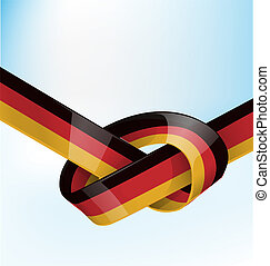 germanic ribbon flag on background